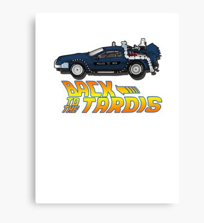 Nerd things - tardis delorean mash up Canvas Print