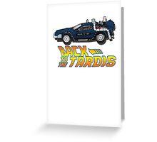 Nerd things - tardis delorean mash up Greeting Card