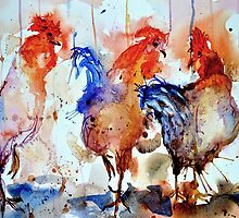 Four Cocks by Steven  Ponsford