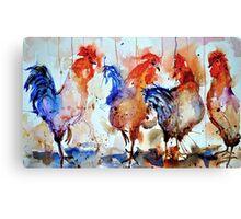 Four Cocks Canvas Print