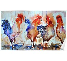 Four Cocks Poster