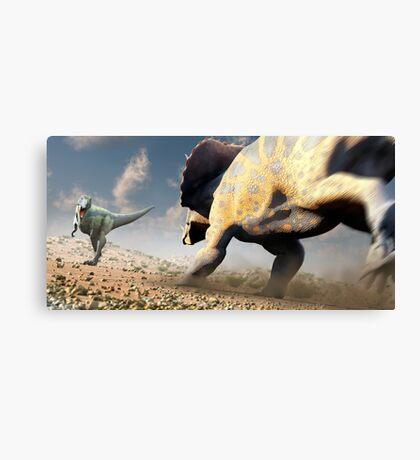 Confrontation - Tyrannosaurus Versus Triceratops Canvas Print
