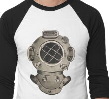 Old School Diving Helmet Men's Baseball ¾ T-Shirt