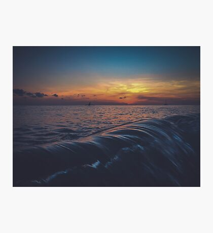 Wave on sunset Photographic Print