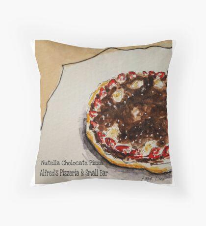 Nutella & Strawberry Dessert Pizza Throw Pillow