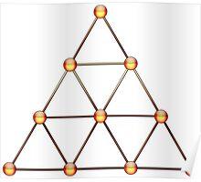 Tetraktys, The Unit Of Four - Pythagorean Symbol  Poster