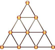 Tetraktys, The Unit Of Four - Pythagorean Symbol  Photographic Print