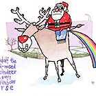 Rudolf The Red-Nosed Reindeer card by dotmund
