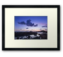 Sunset on guernsey  Framed Print