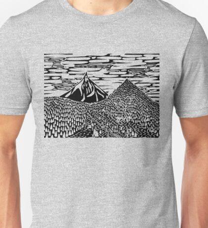 Cascade Mountain Block Print Unisex T-Shirt