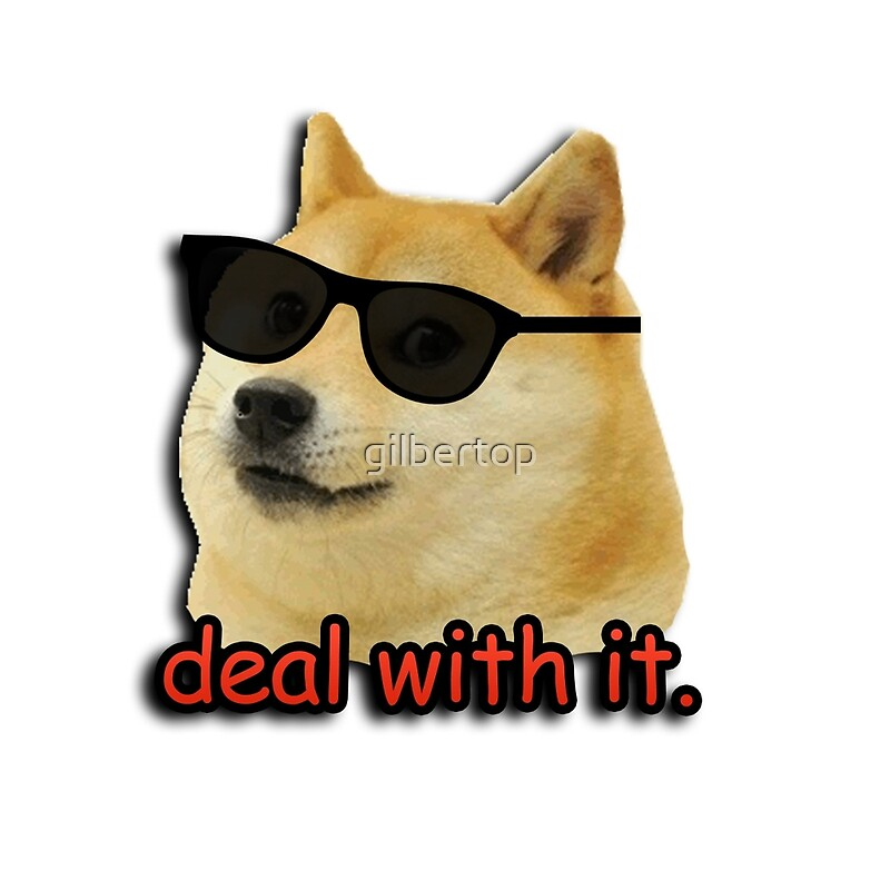Quot Doge Deal With It Dog Meme Quot Throw Pillows By Gilbertop