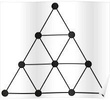 Tetraktys, The Unit Of Four - Pythagoras  Poster