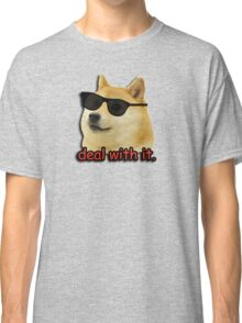 Doge deal with it dog meme Classic T-Shirt
