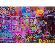 A colourful wall. Photographic Print