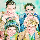 THE MARX BROTHERS watercolor portrait by lautir