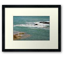 Natural Pool in Guernsey Framed Print