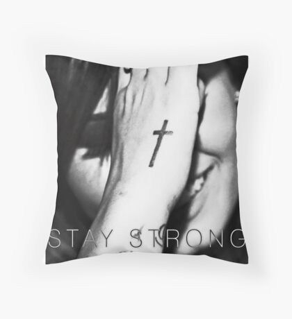 Demi Lovato Stay Strong Halftone Throw Pillow