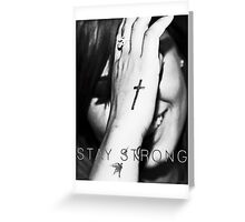 Demi Lovato Stay Strong Halftone Greeting Card