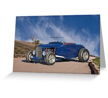 1930 Ford 'Hot Rod' Roadster Greeting Card