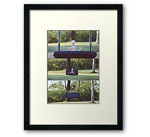 Barbie on the swing Framed Print