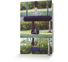 Barbie on the swing Greeting Card