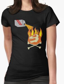 Too Cold To Start A Fire Womens Fitted T-Shirt