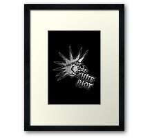 White Riot Framed Print
