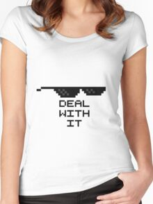 Deal With It Women's Fitted Scoop T-Shirt