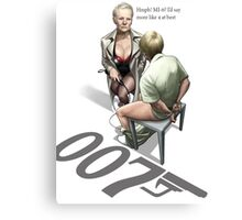 James Bond Parody Canvas Print