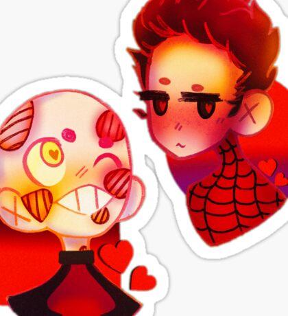 Swimming Spiders Sticker