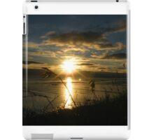 Sunset across the wetlands iPad Case/Skin