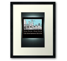 Greenwich Village Roofscape Framed Print