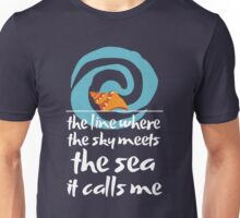 Moana - The Sea It Calls Me by Last Petal Tees Unisex T-Shirt