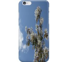BLUE SKY AND FLUFFY WHITE CLOUDS iPhone Case/Skin