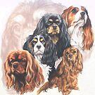 Cavalier King Charles Spaniel w/Ghost by BarbBarcikKeith