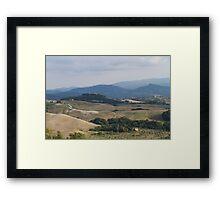 hilly landscape Framed Print