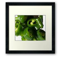 Sliced Green Chilli Framed Print