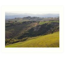 hilly landscape Art Print