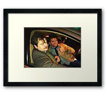 ron swanson and ben wyatt Framed Print