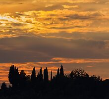 sunset on the hilly by spetenfia
