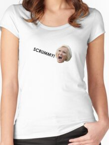Scrummy Women's Fitted Scoop T-Shirt