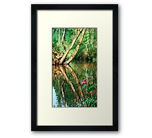 Lonely flower guarding the stream | landscape photography Framed Print