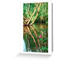 Lonely flower guarding the stream | landscape photography Greeting Card