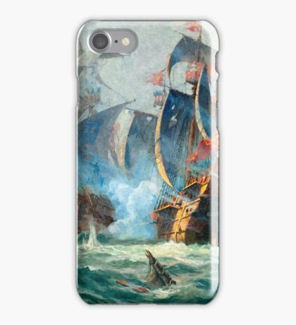 The marine battle scene iPhone Case/Skin