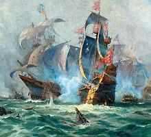 The marine battle scene by markmonty