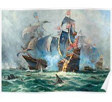 The marine battle scene Poster