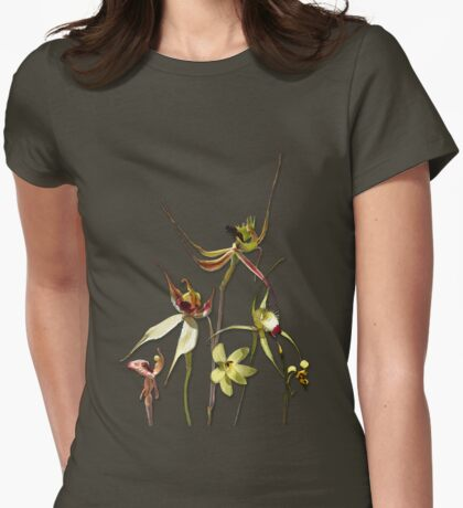 Orchids of Australia 4 Tee Womens Fitted T-Shirt
