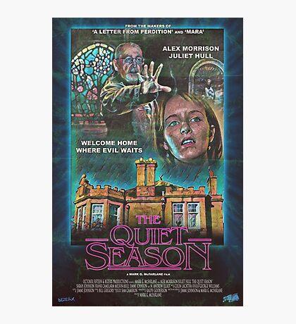 "Retro Film Poster ""The Quiet Season"" Photographic Print"