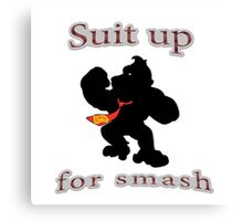 Suit up Smash Canvas Print