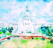 UNITED STATES CAPITOL - watercolor portrait by lautir